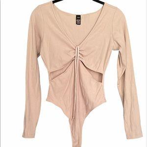 Victorias Secret Cut Out Long Sleeve Bodysuit